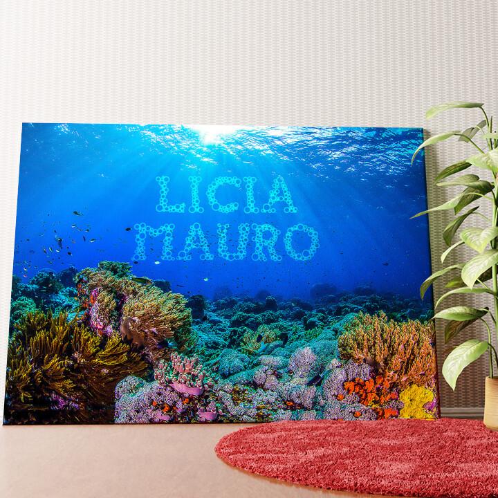Tela personalizzata Sotto il mare