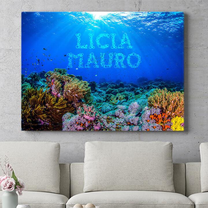 Regalo personalizzato Sotto il mare