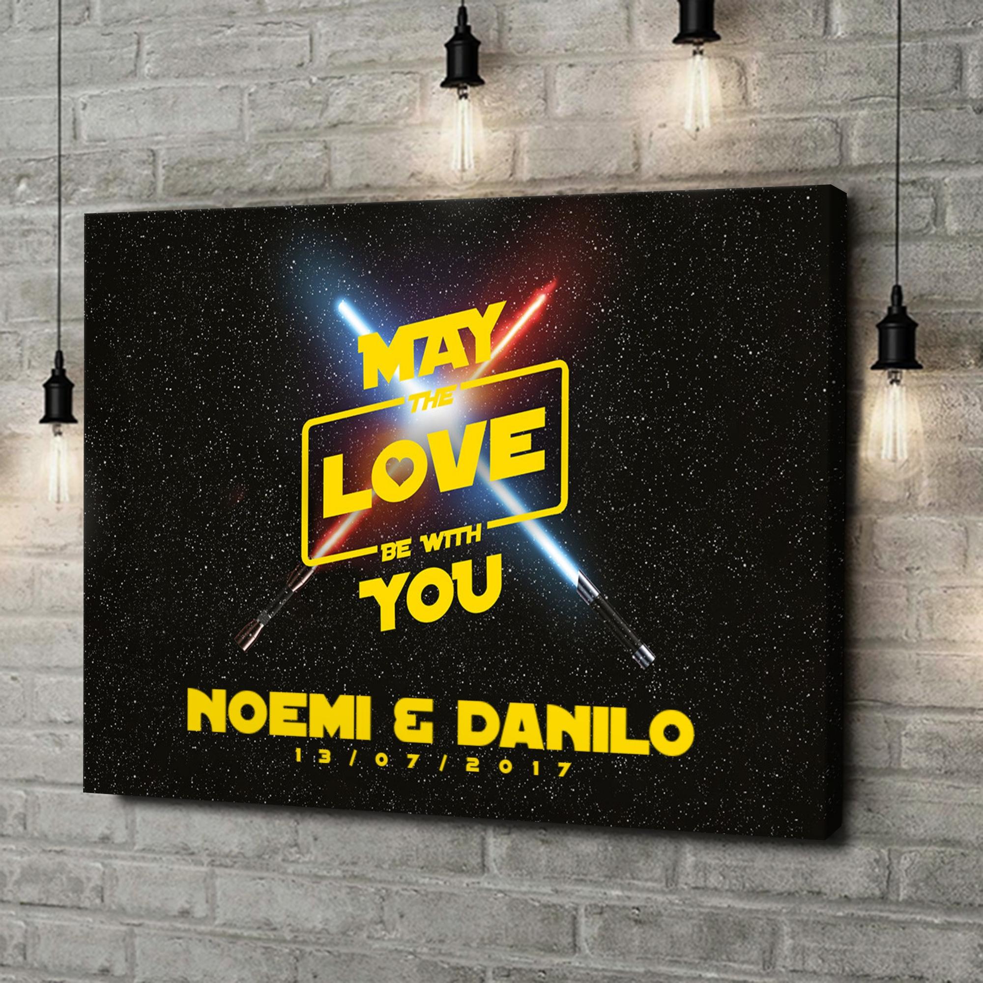 Stampa personalizzata su tela Che l'amore sia con te