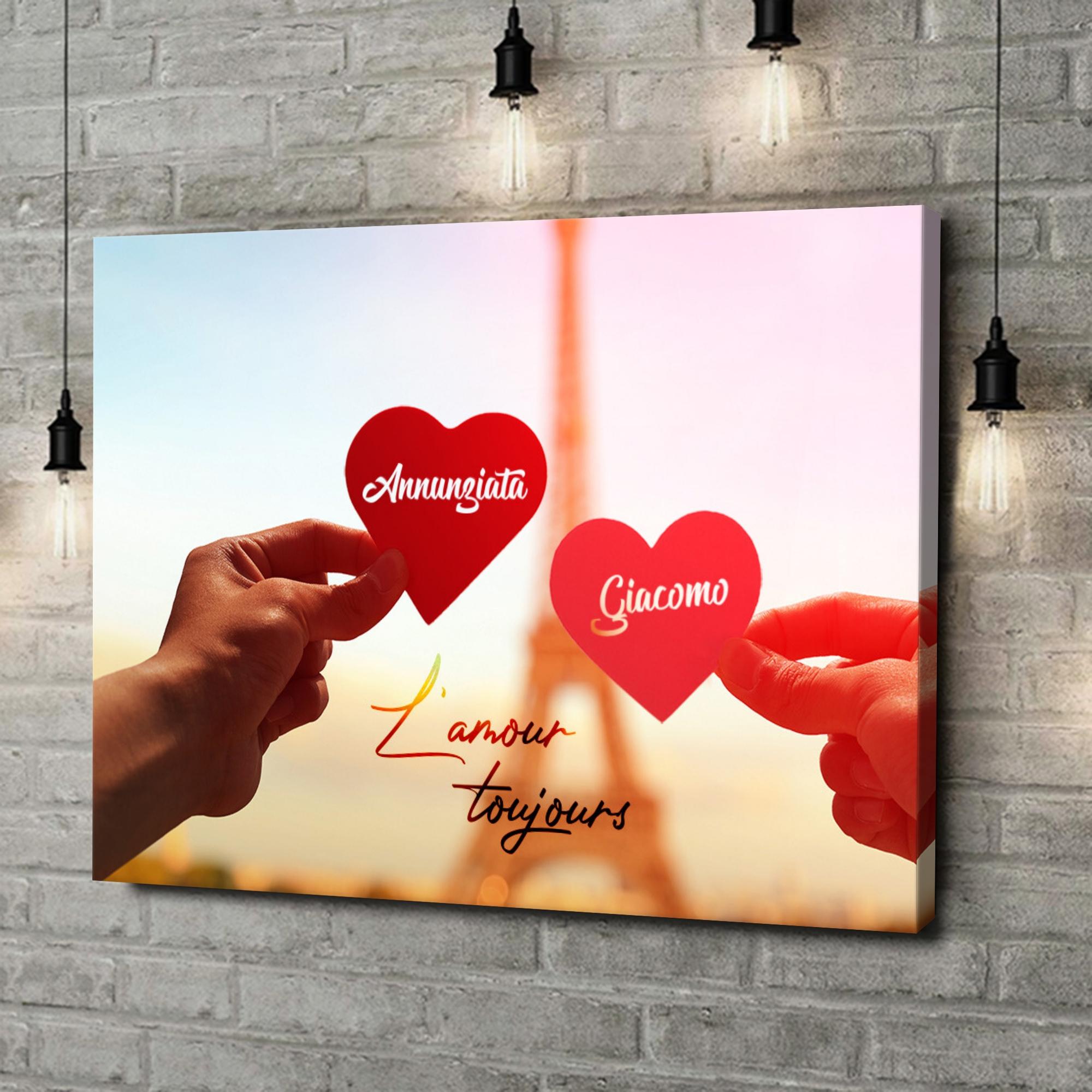 Stampa personalizzata su tela L'amour Toujours