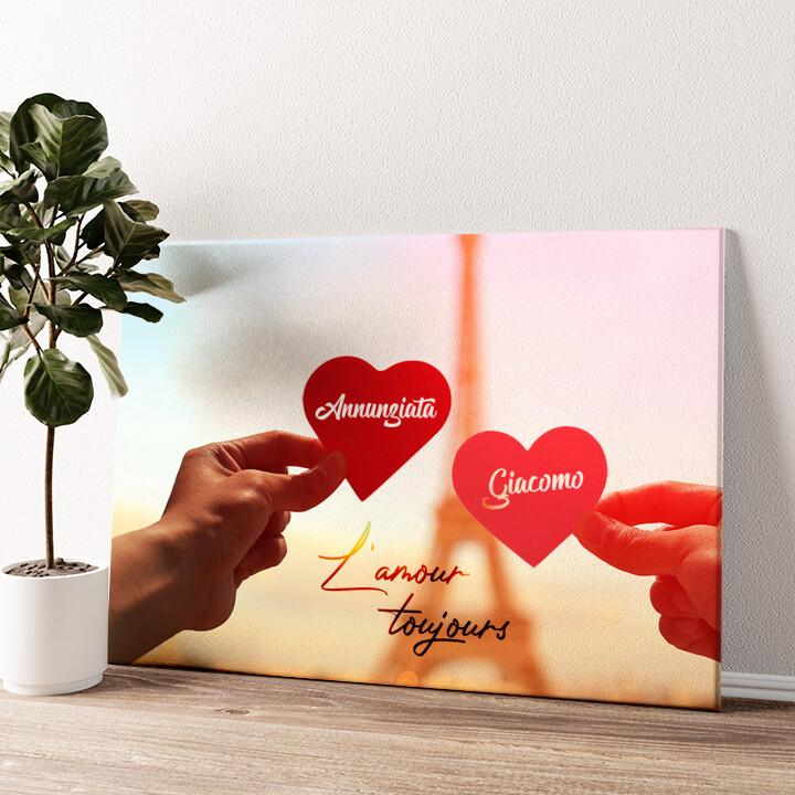 L'amour Toujours Tela personalizzata