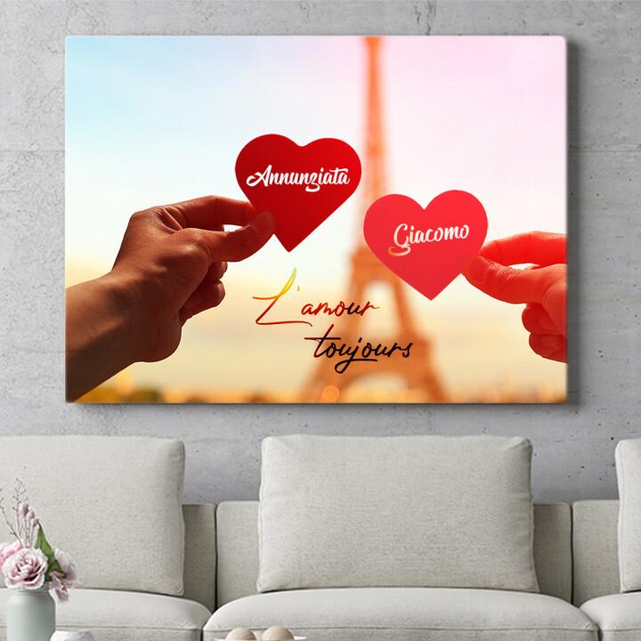 Regalo personalizzato L'amour Toujours