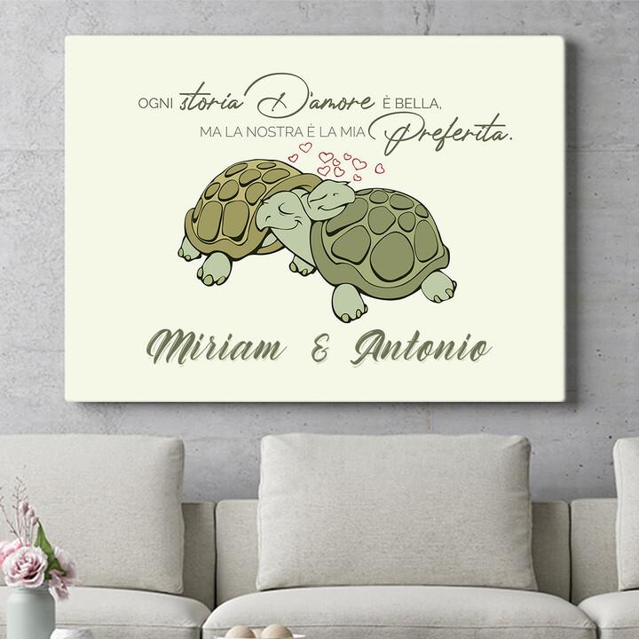 Regalo personalizzato Amore Tartaruga