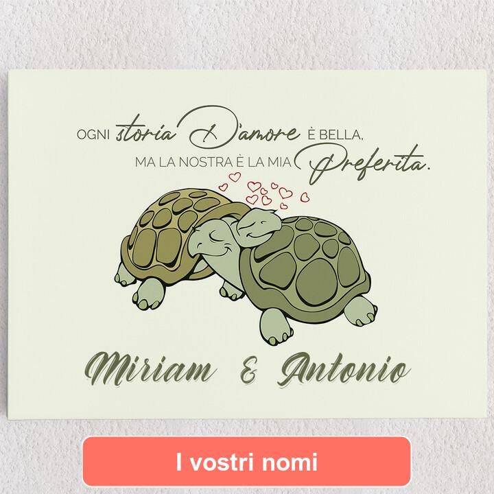 Tele personalizzate Amore Tartaruga