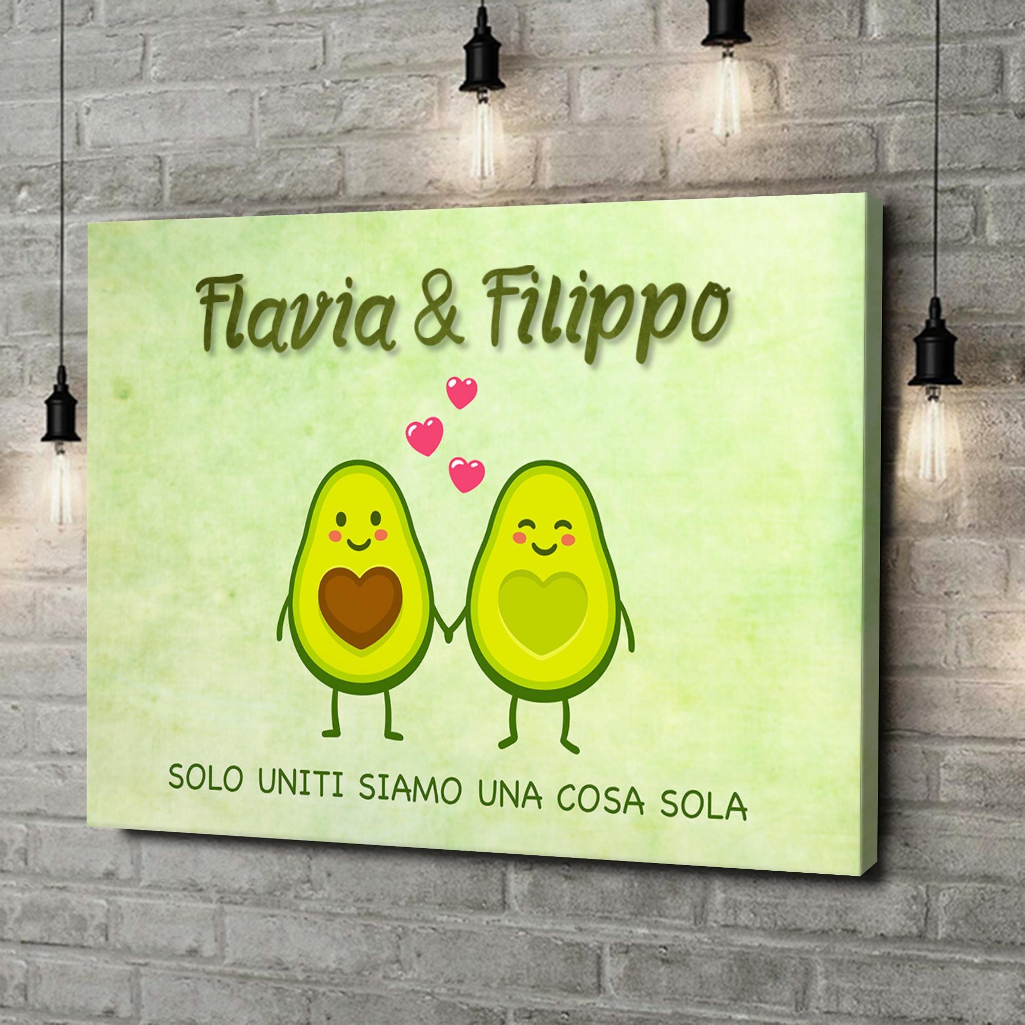 Stampa personalizzata su tela Avocado