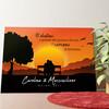 Tela personalizzata Panchina al tramonto