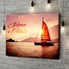 Stampa personalizzata su tela Amore a vela