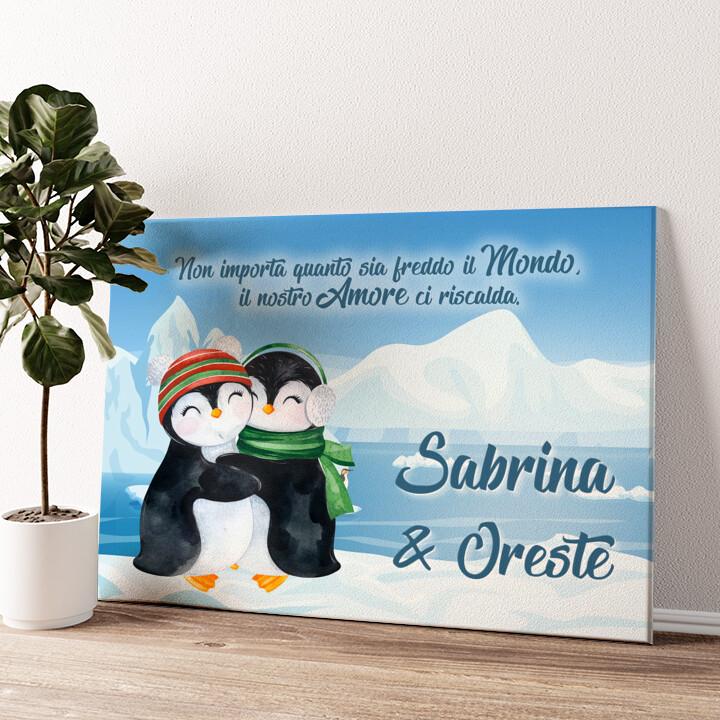 Pinguini Tela personalizzata