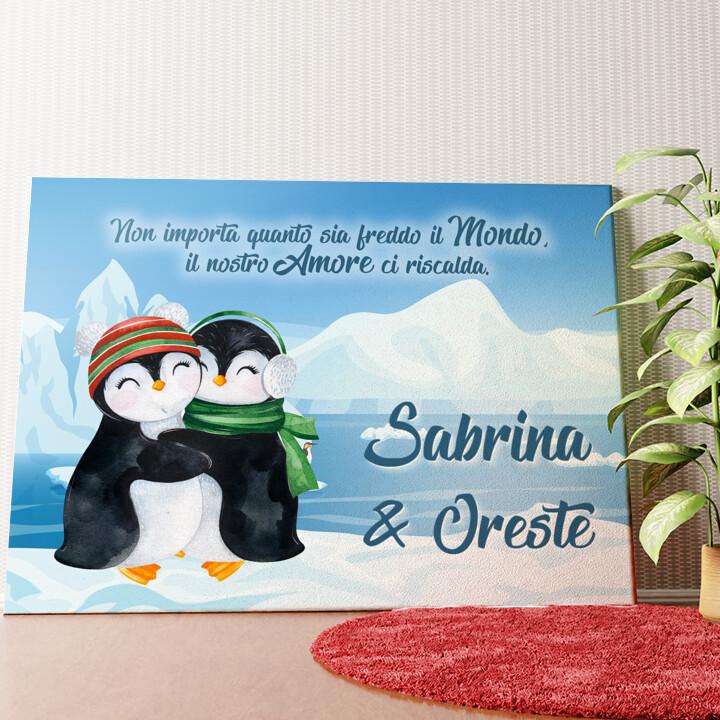 Tela personalizzata Pinguini