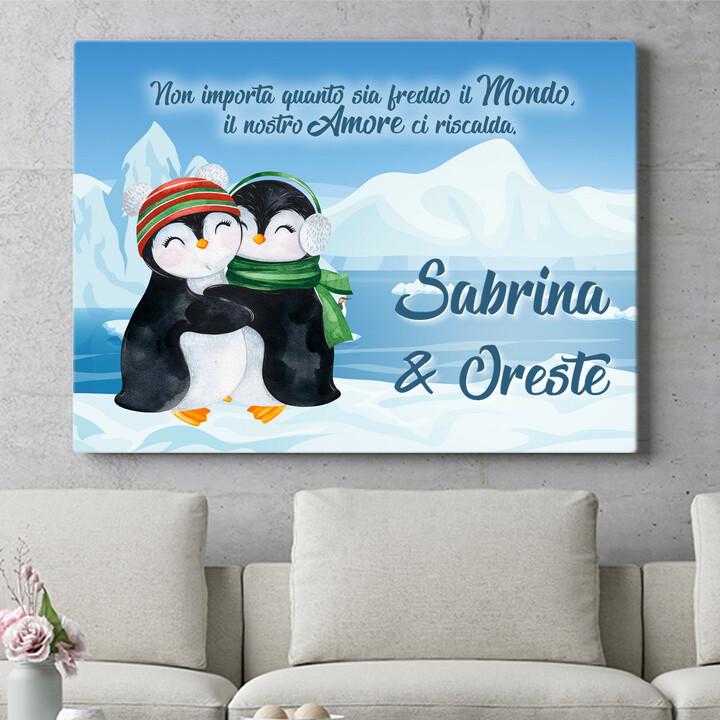 Regalo personalizzato Pinguini