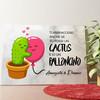 Tela personalizzata Palloncini Cactus