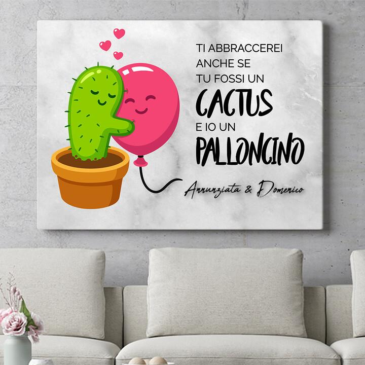 Regalo personalizzato Palloncini Cactus