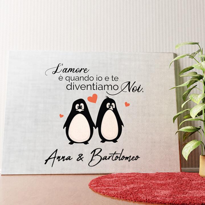 Tela personalizzata Set di pinguini