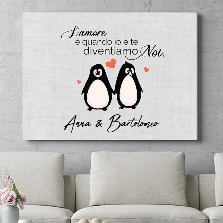 Regalo personalizzato Set di pinguini