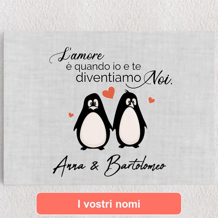 Tele personalizzate Set di pinguini