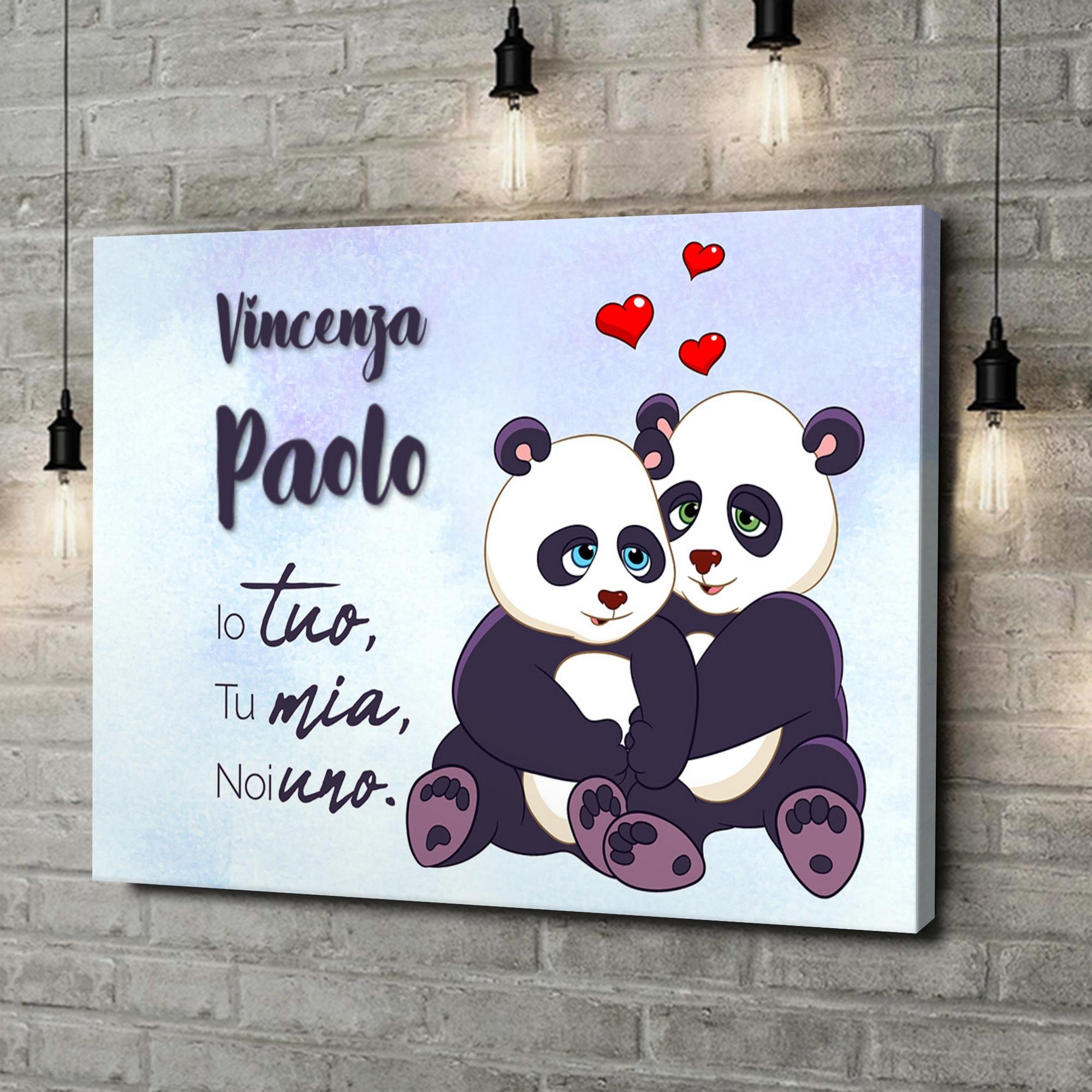 Stampa personalizzata su tela Panda