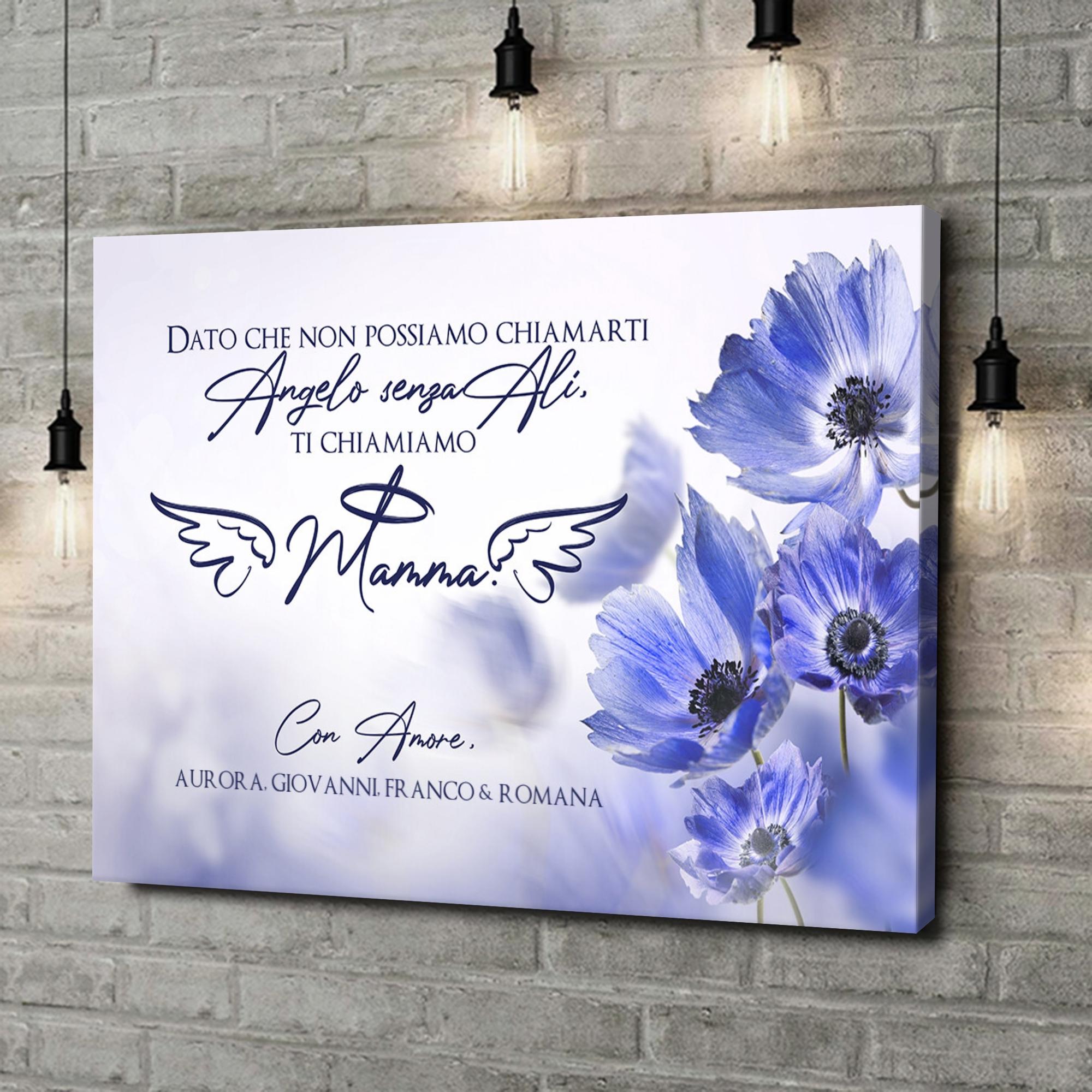Stampa personalizzata su tela Angelo senza ali