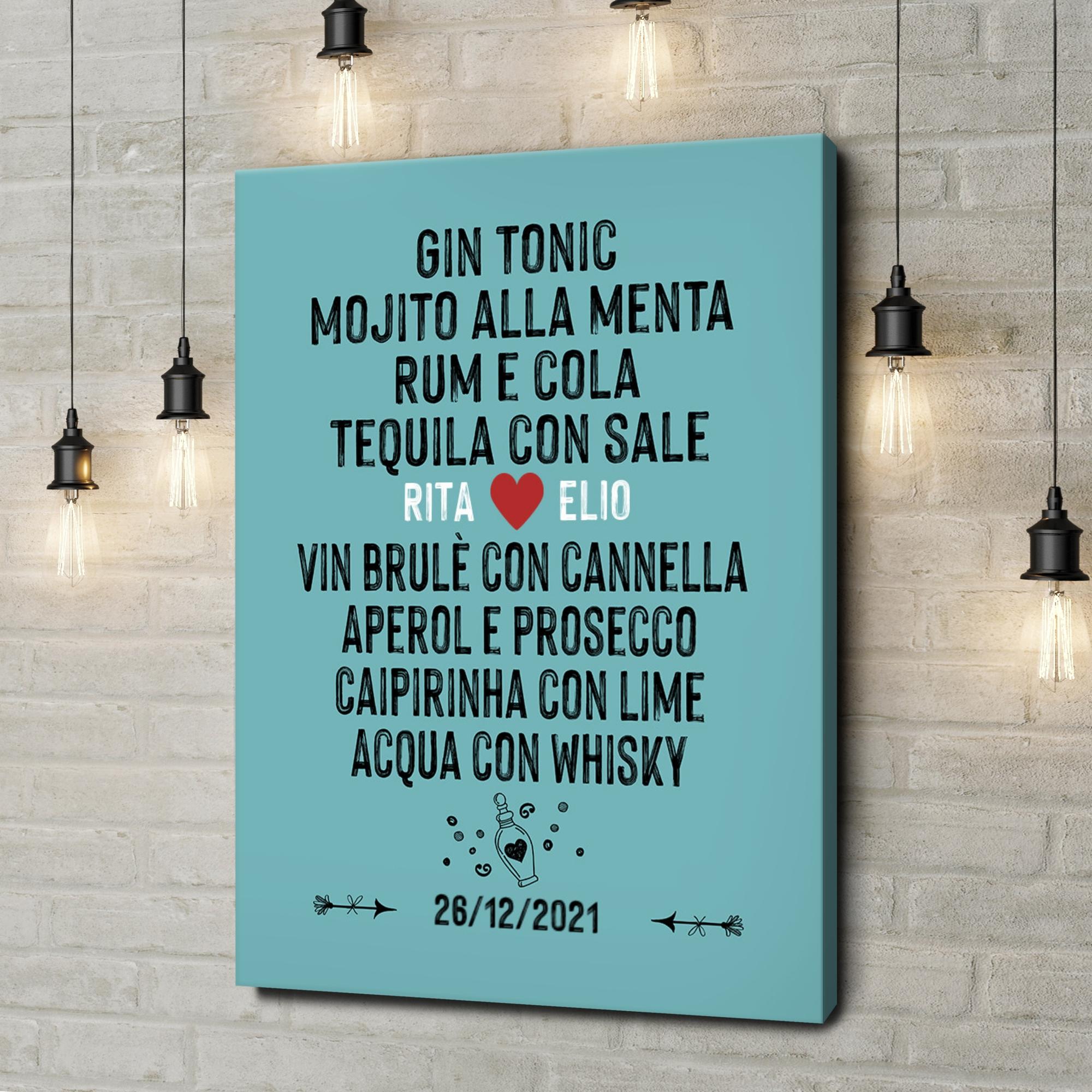 Stampa personalizzata su tela Tu & Io - Andiamo a bere