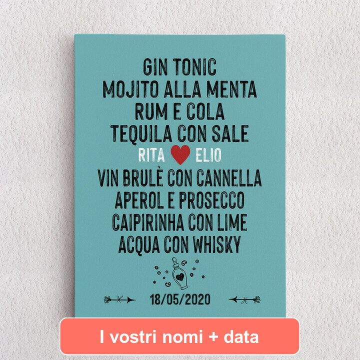 Tele personalizzate Tu & Io - Andiamo a bere