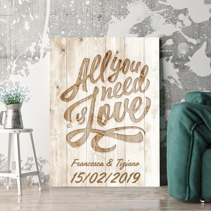 Regalo personalizzato L'amore è tutto ciò che serve