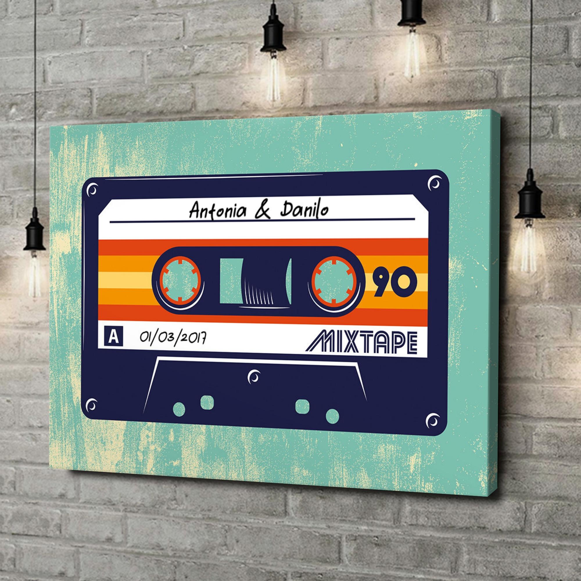 Stampa personalizzata su tela Mixtape