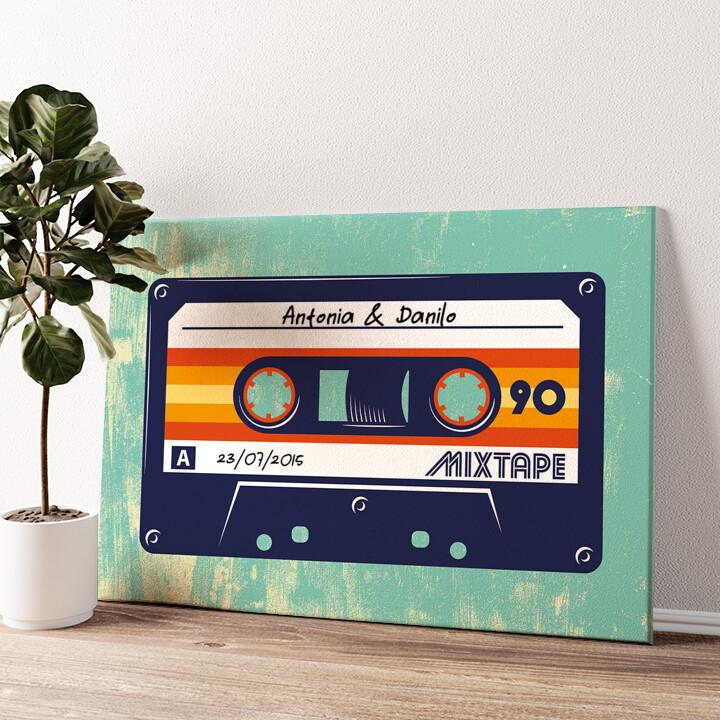 Mixtape Tela personalizzata