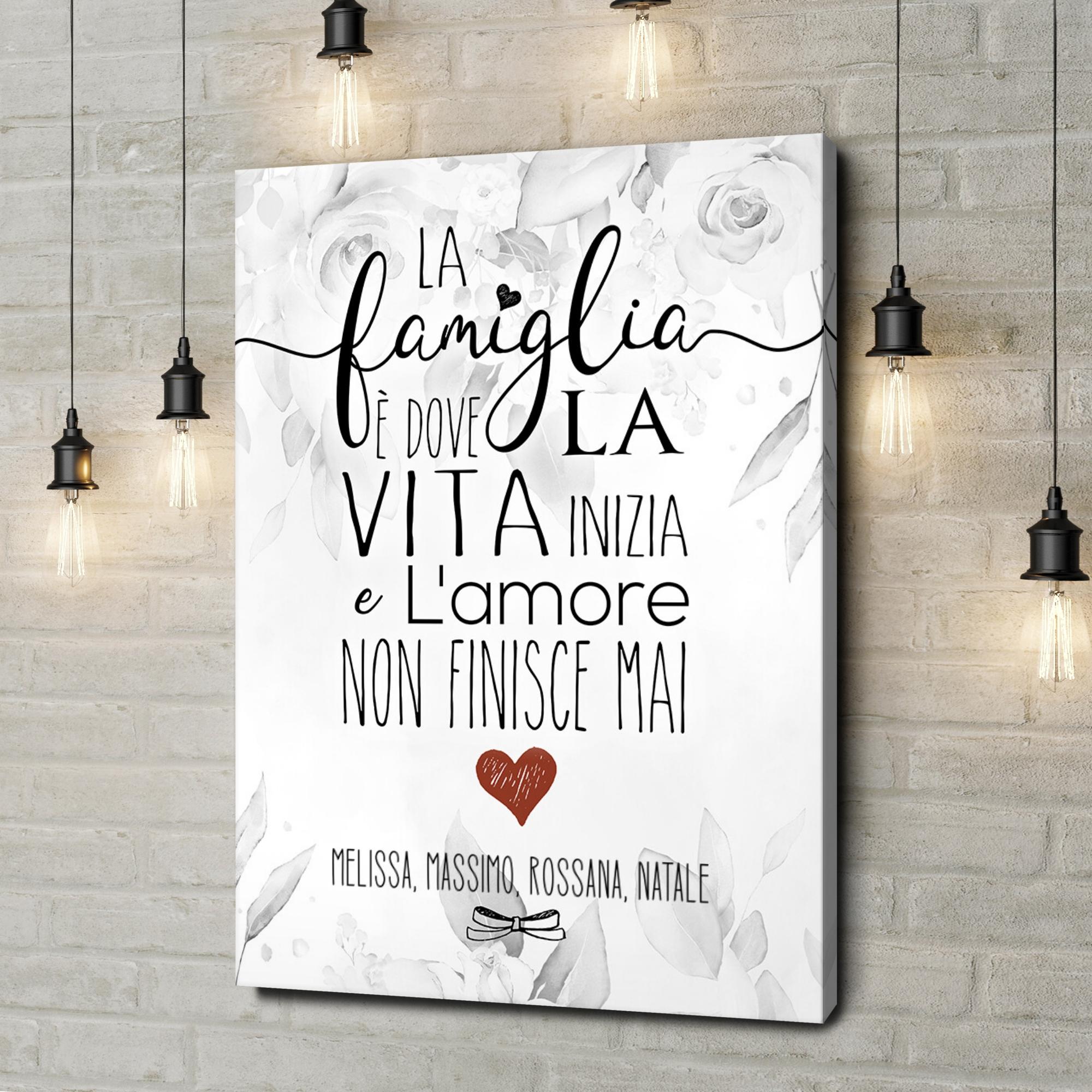 Stampa personalizzata su tela Famiglia