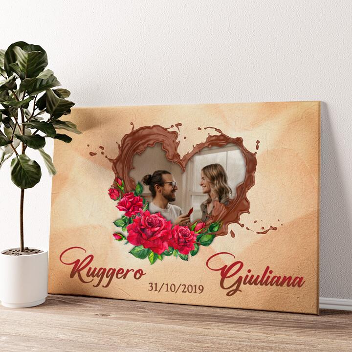Il nostro lato di cioccolato Tela personalizzata