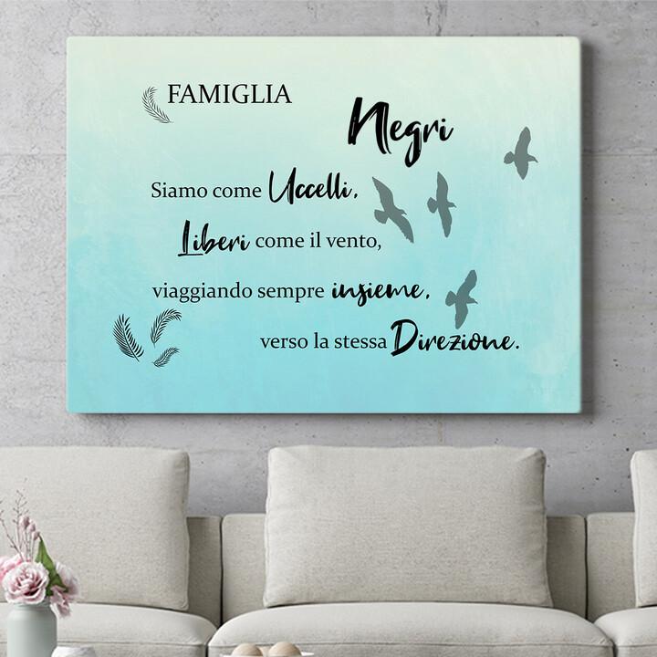 Regalo personalizzato Uccelli Migratori