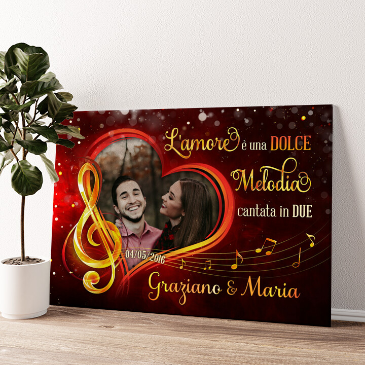 Melodia d'amore Tela personalizzata