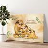 Famiglia di bradipi Tela personalizzata