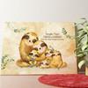 Tela personalizzata Famiglia di bradipi