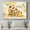 Regalo personalizzato Famiglia di bradipi