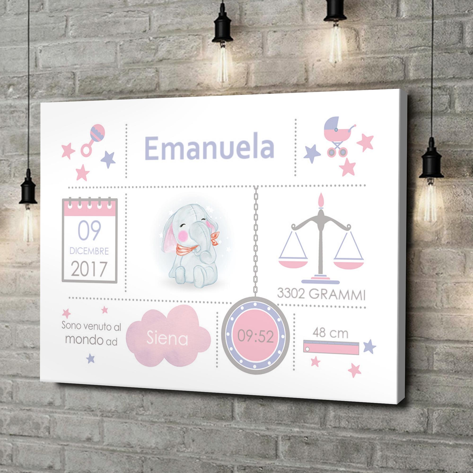 Stampa personalizzata su tela Tela Baby elefante
