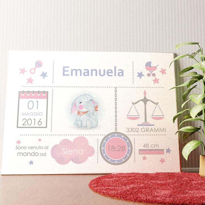 Tela personalizzata Tela Baby elefante