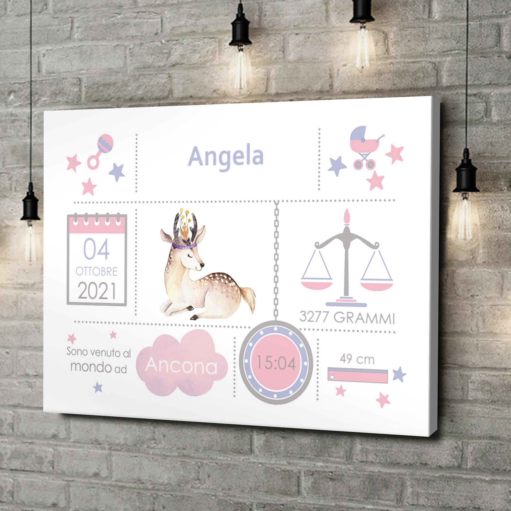 Stampa personalizzata su tela Tela Baby capriolo