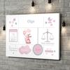 Stampa personalizzata su tela Tela Baby coniglio con palloncino