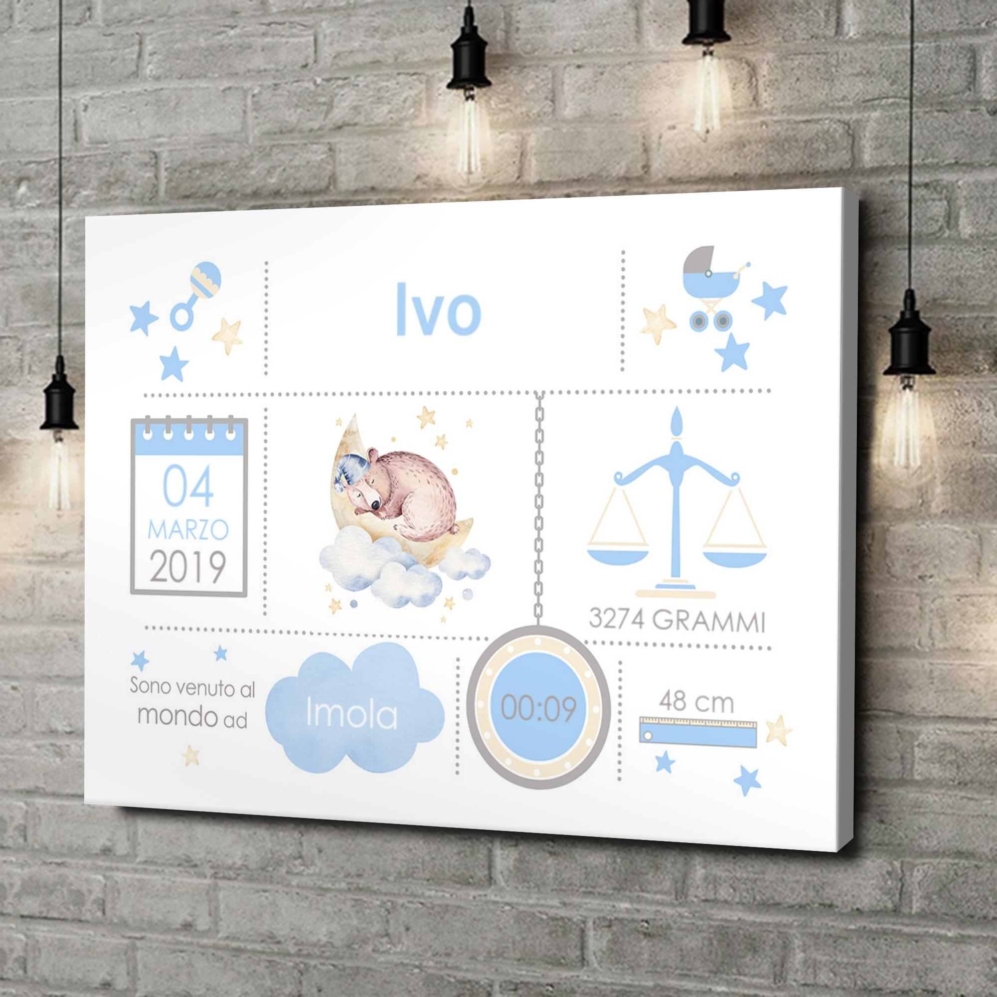 Stampa personalizzata su tela Tela Baby orso