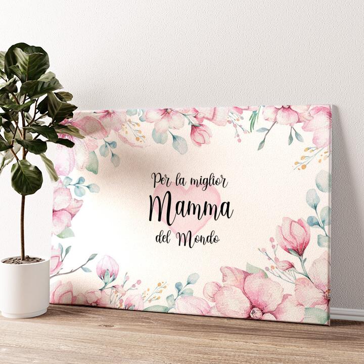 Cara Mamma Tela personalizzata
