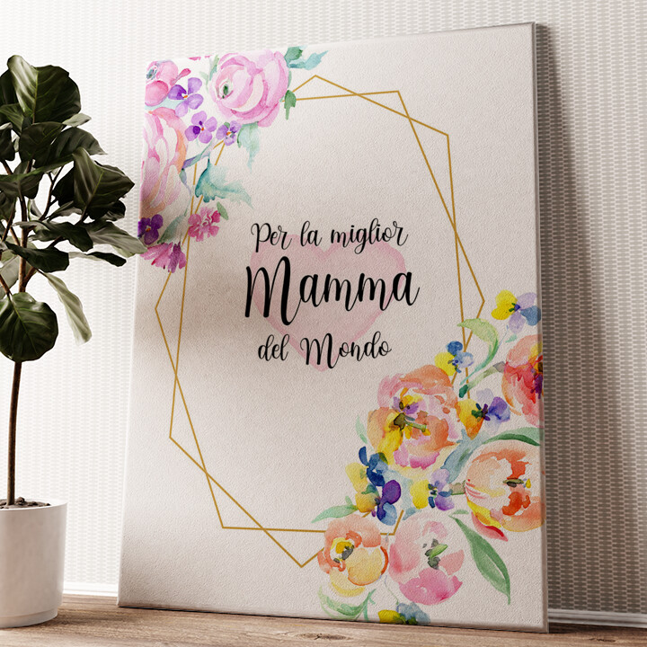 Per la Mamma Tela personalizzata
