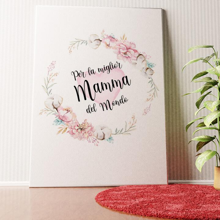 Tela personalizzata Per la festa della mamma