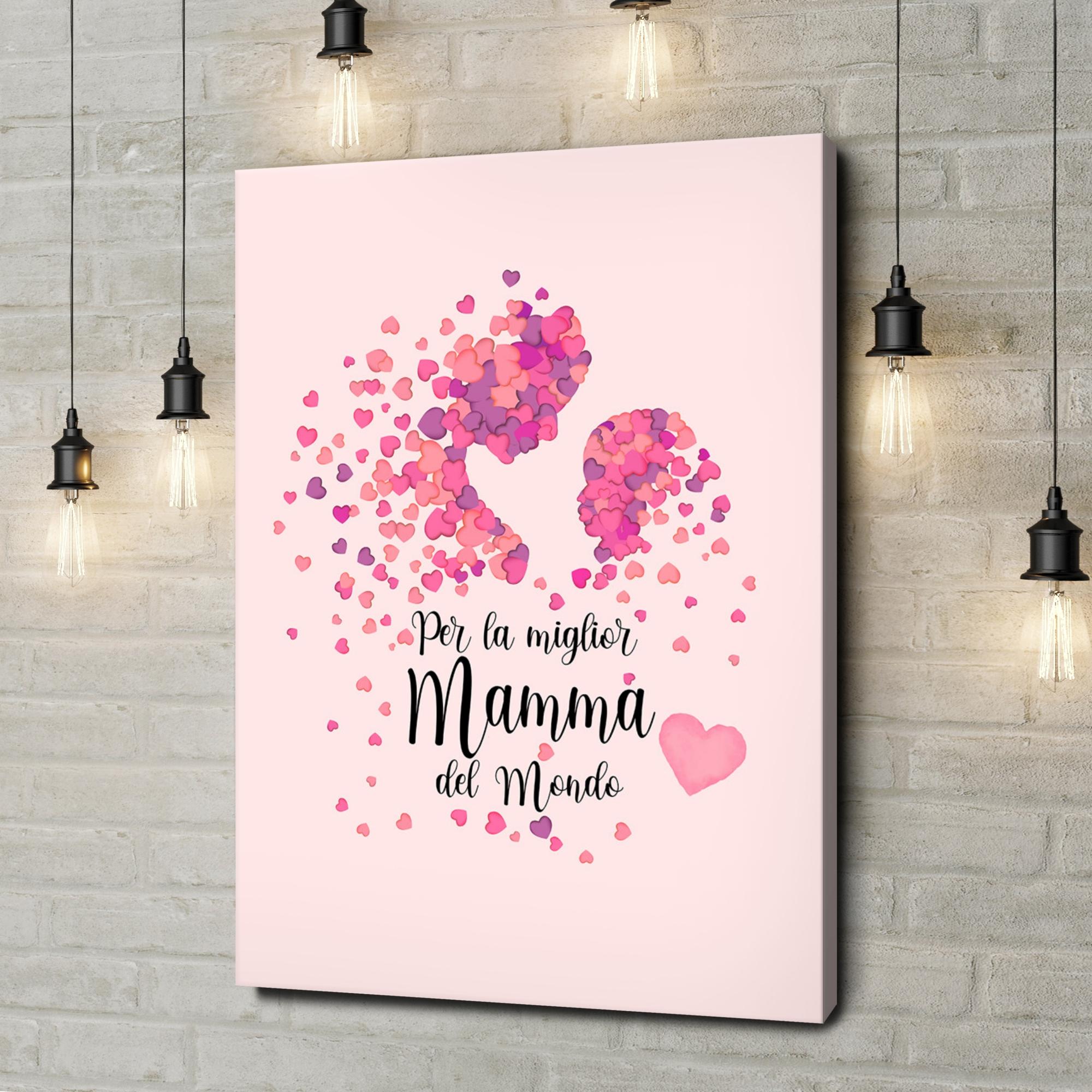 Stampa personalizzata su tela Amore Materno