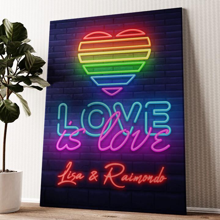 L'amore è l'amore Tela personalizzata