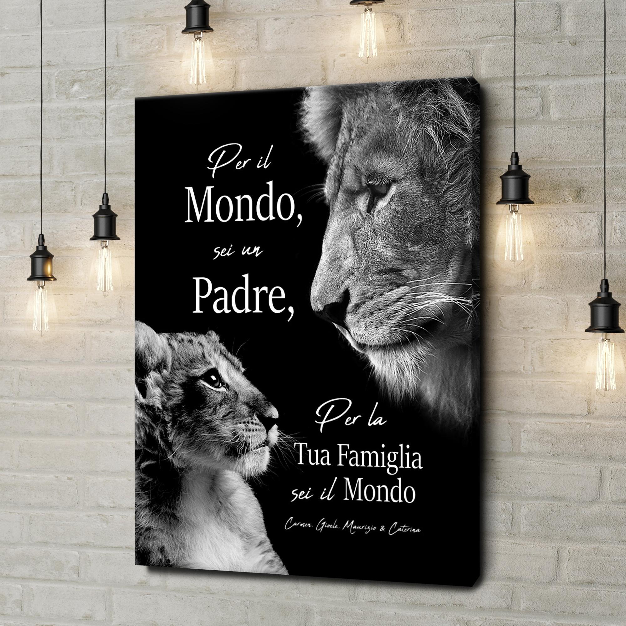 Stampa personalizzata su tela Padre Leone