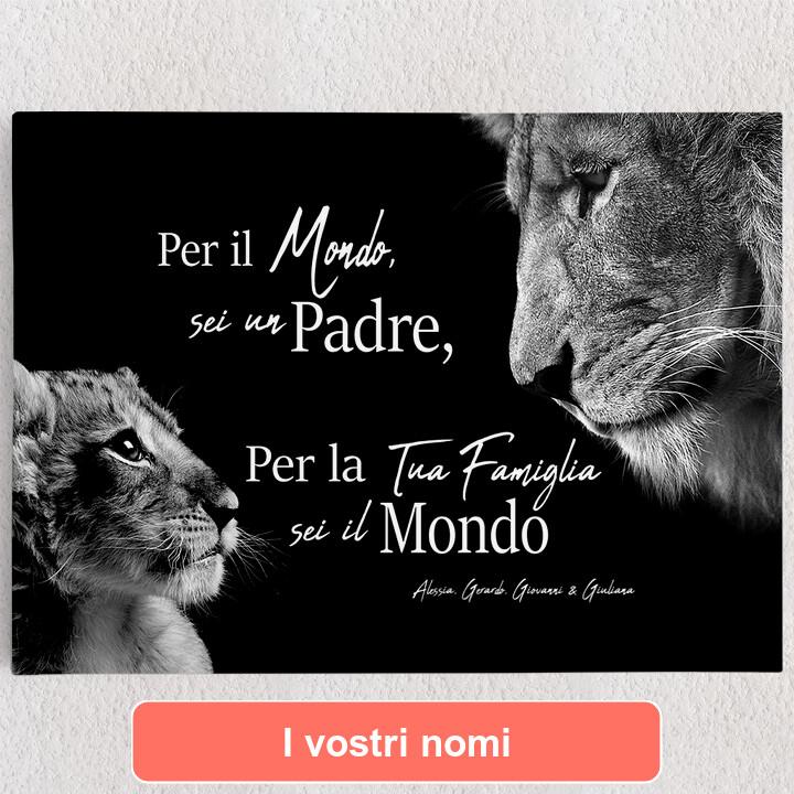 Tele personalizzate Padre leone (formato orizzontale)
