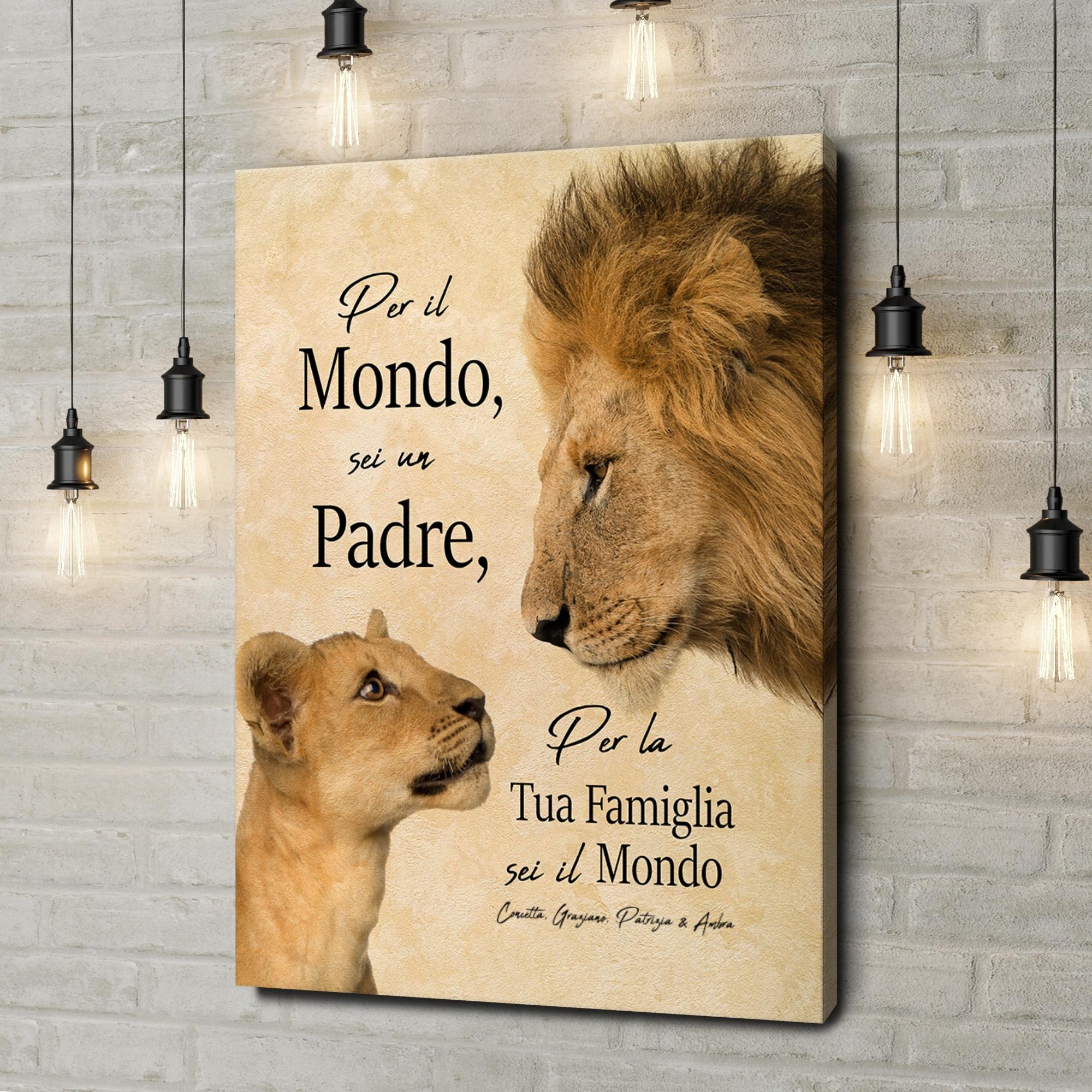 Stampa personalizzata su tela Padre Leone 2
