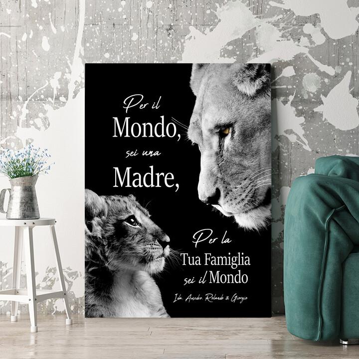 Regalo personalizzato Madre Leonessa