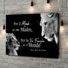 Stampa personalizzata su tela Madre leonessa (formato orizzontale)