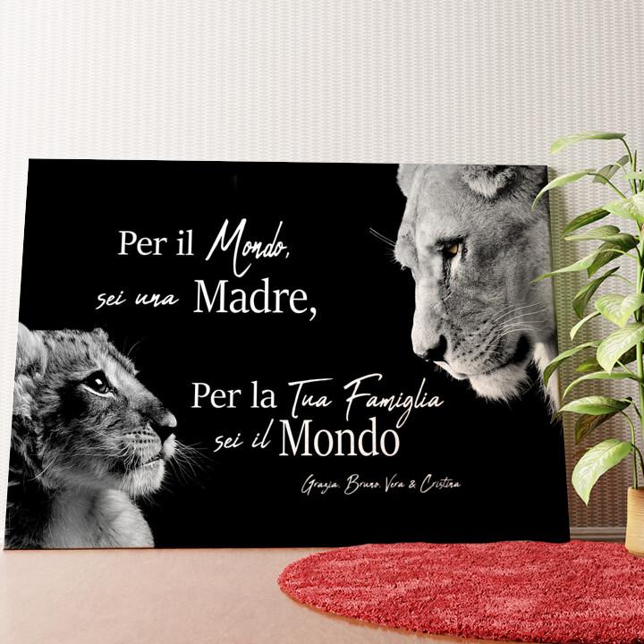 Tela personalizzata Madre leonessa (formato orizzontale)