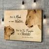 Stampa personalizzata su tela Madre leonessa 2 (formato orizzontale)
